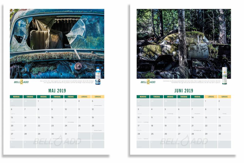 2019 kalenderen fra Bell Add